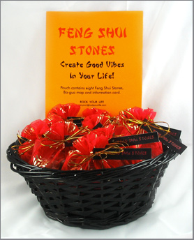 Feng Shui Stones Display Basket